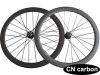 U Shape Disc brake 50mm Tubular carbon Cyclocross bicycle wheelset thru axle hub