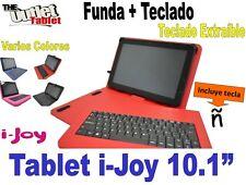 """FUNDA CON TECLADO TABLET i-joy 10.1""""  fundas TECLADO EXTRAIBLE"""
