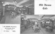 St Paul MN~Old Vienna Cafe Interior~JM Irwin~Wabasha Street~Shubert Bldg~1908 PC