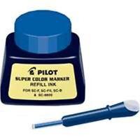 Pilot Super Color Permanent Marker Refill Ink 1 Oz Bottle with Dropper Blue Ink