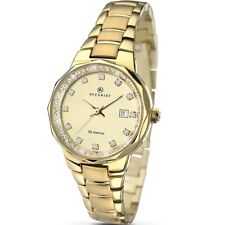 Accurist Champagne Dial Gold Plated Ladies Fashion Watch 8015 Black Friday sale