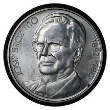 1000 Dinara 1980 Socialist Yugoslavia Silver Coin Tito's Death // # 78 From 1$