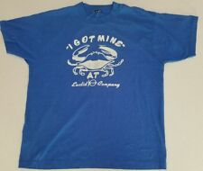 INCREDIBLE LOGO VINTAGE I GOT MINE AT EUCLID FISH COMPANY T SHIRT 50/50 XL