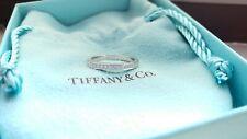 TIFFANY & CO  PLATINUM VVS1/E DIAMOND  WEDDING BAND RING 6 3.8GR