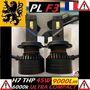 Kit PREMIUM LED H7 THP 45W 12V 24V 6000k PUR 2x 9000lm ANTI ERREUR ULTRA COMPACT