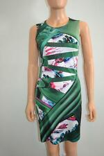 Mary Katrantzou Green Multicolored Geometric Print Sleeveless Silk Dress, Sz S