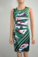 Mary Katrantzou Green Multicolored Geometric Print Sleeveless Silk Dress, Sz S