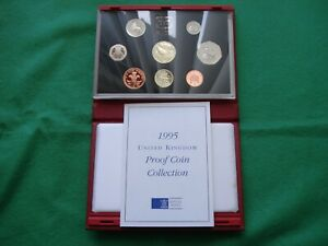 Royal Mint 1995 UK Proof Coin Collection - Red case including COA