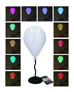 Battery Operated LED Desk Lamp Colour Changing Balloon Lightup Bedside Lamp Home