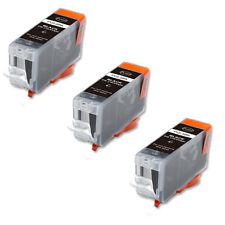 3 BLACK Printer Ink with chip fits Canon PGI-5 iP4200 iP4300 iP4500 MP530