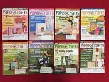 Lot of 8 Paper Crafts Magazines 2007 Craft Rubber Stamping Projects Instructions