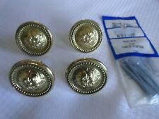 Vintage 4 Decorative Brass Cabinet Pulls & screws