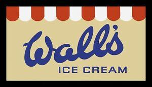 Wall's Ice Cream Counter Mat Retro Cafe Decor Display Mat Bar Towel/Runner 925