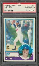 1983 OPC O-Pee-Chee Ron Cey #15 Los Angeles Dodgers PSA 10 GEM MINT