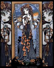Flower Fairy Sunrise Dancer Lucia Fae Myka Jelina Signed Myka Jelina Art Print
