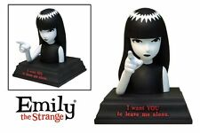 """Emily the Strange """"I Want You To Leave Me Alone"""" Statuette Bust -NEW"""