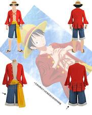 Cosplay One Piece LUFFY RUFFY in 2 jahren Anime Manga 4 Teilen Kostüme L (De)