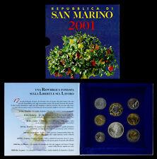 REPUBBLICA DI SAN MARINO SERIE DIVISIONALE MONETE ANNO 2001 _ 17 SECOLI LIBERTA