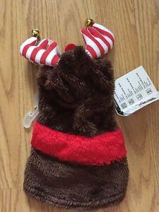 SIMPLY DOG Brown  CHRISTMAS REINDEER Hoodie Puppy/Dog medium
