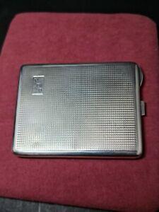 VINTAGE Art Deco INVICTA -.E H. Sterling Silver Cigarette Case Engraved 122g VGC