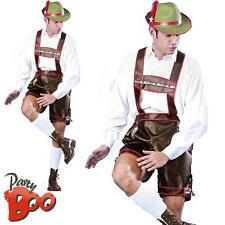 Bavarian Beer Man Lederhosen Oktoberfest German Adult Fancy Dress Mens Costume