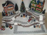Christmas Village Display Platform J21 For Lemax Dept 56 Dickens + More