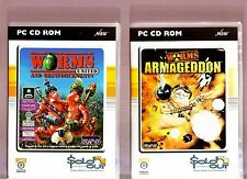 WORMS UNITED & WORMS ARMAGEDDON. 3 EXCELLENT STRATEGY/ACTION GAMES FOR THE PC!!
