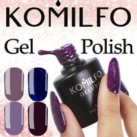 KOMILFO Autumn Collection Gel Nail Polish DELUXE Series Color Coat 8ml Beige NEW