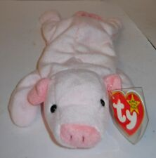 """TY BEANIE BABY 9"""" SQUEALER THE PINK PIG W/TAG ERRORS, STYLE 4005 """"4-23-93"""" NWT'S"""