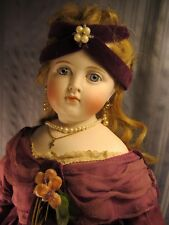"""Gorgeous ~ 22"""" Antique ~ """"Turned Head""""  Fashion Doll ~ Great Antique Clothing"""