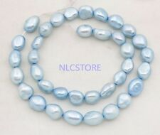 "8mmX10-12mm baroque pearl loose bead 15"" long white gray blue green Orange brown"