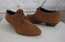Lavorazione Artigiana Womens US 6.5 - 7 Brown Suede Leather Oxfords Italy EU 37