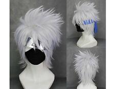 Naruto Kakashi Hatake Perücke wig Anime Cosplay Kostüm Weiß Silber Kurz Herren
