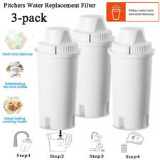 3-pack Water Pitcher Filter Replacement Dispenser Clean Water For Brita Standard