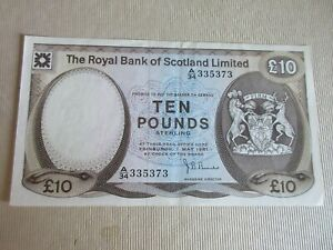 GB - RBS, 1972-81 ISSUE, £10 P338 - DATED 01.05.1981  -  VERY FINE++
