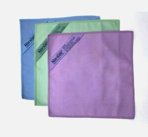 """1 Norwex Microfiber Makeup Removal Cloth BLUE SUEDE BACLOCK 7.87"""" X 7.87"""""""