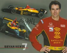2004 Bryan Herta signed XM Satellite Radio Honda Dallara Indy Car postcard