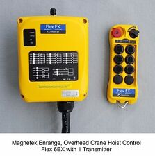 Magnetek Flex 6EX2, w/ 1-TX Overhead Crane Hoist Radio Remote Control, Enrange