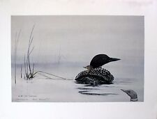 Sue Coleman Original Remarque Hand Signed Limited Edition Free Ride / Loon 1987