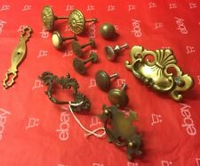 Lot Of 12 Mixed Cabinet Door Drawer Pulls. Vintage, Some Very Old . AS IS