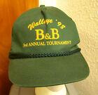 B&B Walleye Tournament snapback cap 1998 fishing retro baseball hat captain cord