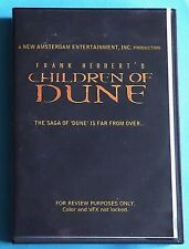 """Children of Dune 3 DVD Set- DEMO! """"For Review Purposes Only"""" """"Not for Sale"""" RARE"""