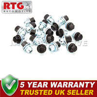 Wheel Nut + Black Cap 22mm Hex - Set of 20 for Discovery Sport Range Rover Sport