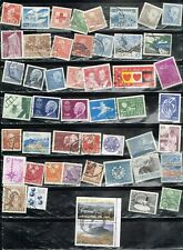 (14-353) 45+ Assorted Cancelled  Postage sTamps from Sweden