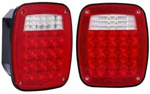 Universal Truck Boat 39 LED Stud Mount Combination Stop Turn Tail Light (2 PCS)