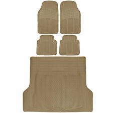 Trunk Cargo Floor Mats for SUV Van Truck All-Weather Rubber Front Rear Liners 5p