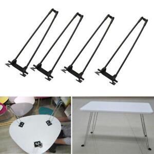 """4Pcs 14"""" Heavy Duty Hairpin Laptop Desk Foldable Legs Coffee Table Folding Legs"""