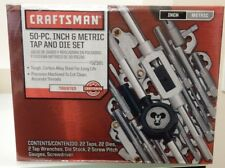 Craftsman 50pc Tap and Die Set INCH SAE + METRIC 52381 952381 - New Free Ship!