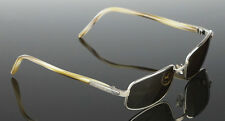 NEW *$1200* Ruthenium Plated FRED LUNETTES Designer Borneo Sunglasses C2 203