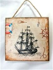 New ListingSailing Ship sign with rope nautical decor (A)